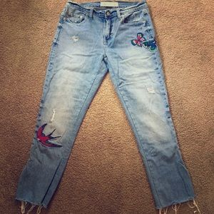 Birds and Butterflies Jeans
